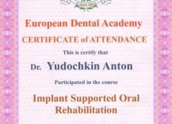 Сертификат. Юдочкин А.Ю.