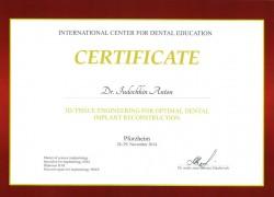 Сертификат из Германии. Юдочкин А.Ю.